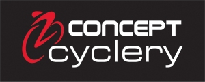 Concept Cyclery - logo on black